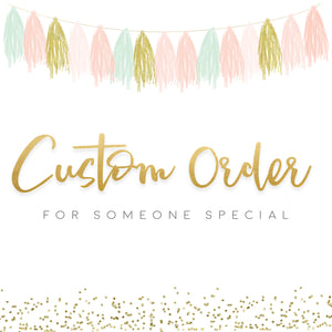 Custom Digital SVG cake topper