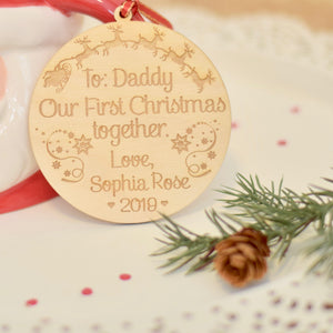 Daddy's first Christmas ornament