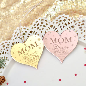 Gold and Rose Gold memorial ornament for mom