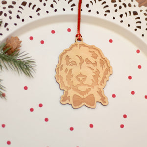 Golden Doodle Christmas Ornament Gift Personalized with Name