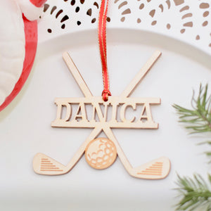 Golf Ornament on plate, Golf gifts for dad