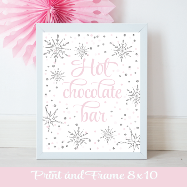 Hot Chocolate Bar Sign Pink