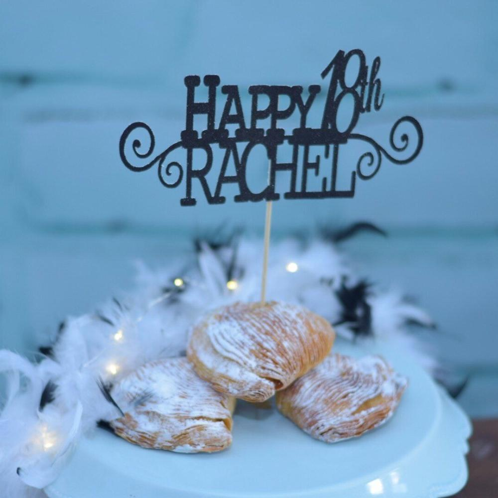 Detailed Personalized Cake Topper For Birthday Sugar Crush Co