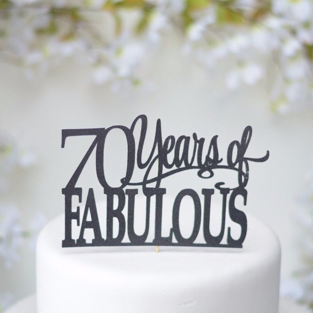 Personalized Years Of Fabulous Birthday Cake Topper Sugar Crush Co