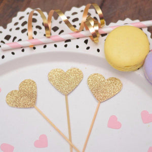 Heart Cupcake Toppers For Birthday, Bridal Shower and More!