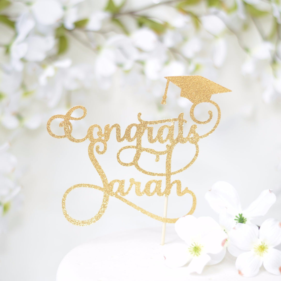 Congrats Graduation Cake Topper With Personalized Name