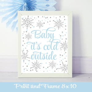 Baby it's Cold Outside Print and Frame 8 x 10 printable digital download