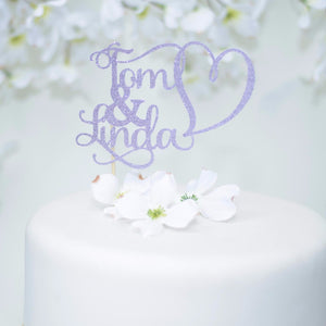First Names Bride & Groom Wedding Cake Topper