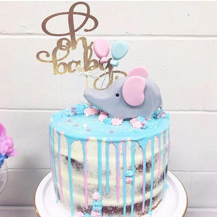 Oh Baby Baby Shower Cake Topper Sugar Crush Co