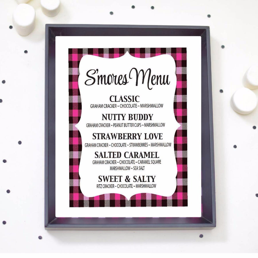 Smores Menu Bar Sign - Digital Download