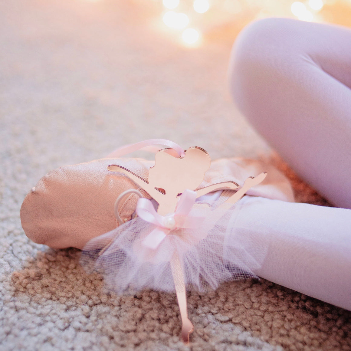 Ballerina Christmas Tree Ornament in Rose Gold and Pink