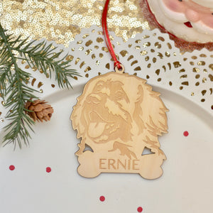 Personalized leonberger ornament for Christmas Tree