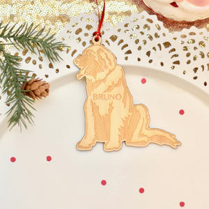Personalized Leonberger Dog Christmas Ornament