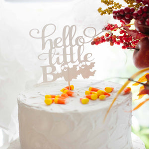 hello little boo cake topper sip and see