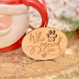 Rescue Dog Christmas Tree Ornament Gift