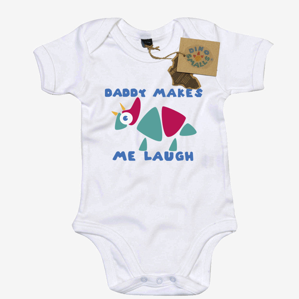 Dino Smalls Daddy Makes Me Laugh Babygrow Bodysuit