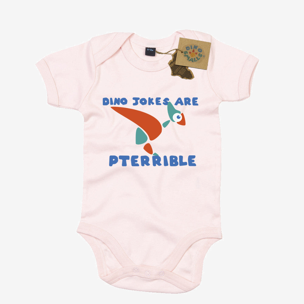 Dino Smalls Dino Jokes are Pterrible Babygrow Bodysuit