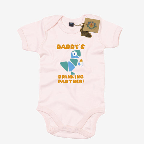 Dino Smalls Daddy's Drinking Partner Babygrow Bodysuit