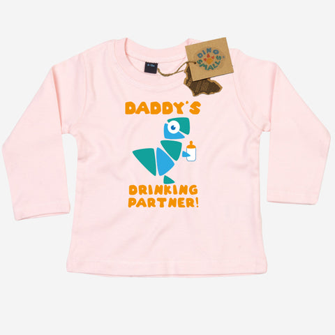 Dino Smalls Daddy's Drinking Partner Long Sleeve T Shirt
