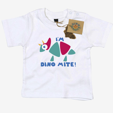 Dino Smalls I'm Dinomite Baby Toddler T Shirt