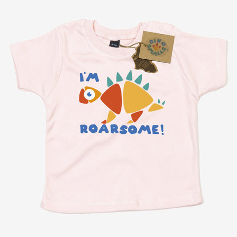 Dino Smalls I'm Roarsome Baby Toddler T Shirt