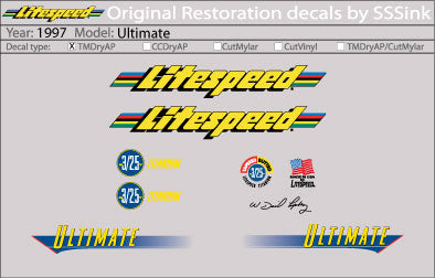 1997 Ultimate Decal Set