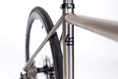 Detail view of seat tube graphics