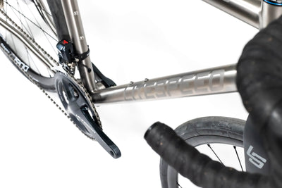 Detail image of downtube and drivechain