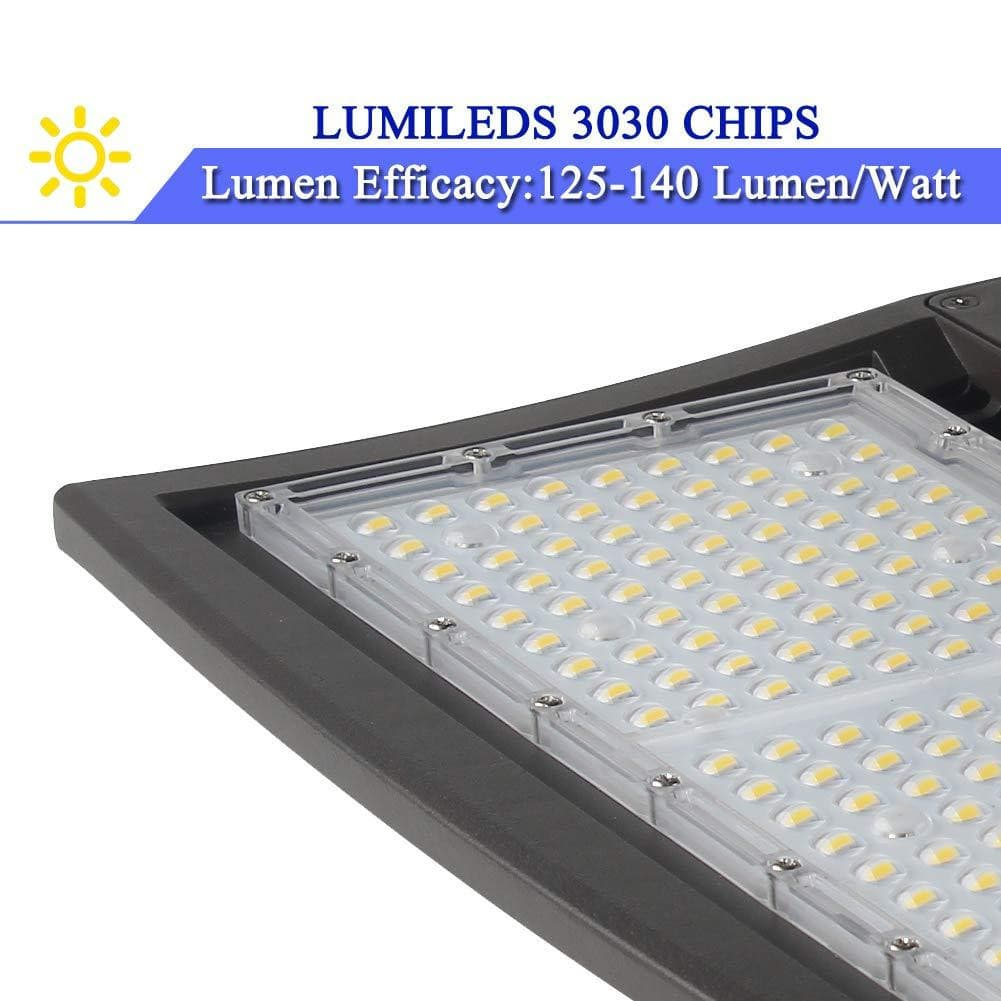 LED Parking Lot Lights G3 13000LM- 100W-Direct Mount-DLC LISTED-20KV SURGE-5 YEARS WARRANTY