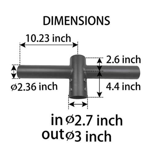 Double 180° Horizontal Tenon Adapter