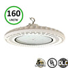 White LED UFO High bay 150W 5000K- LED Warehouse Lighting- Philips LED-DLC 5 Years warranty