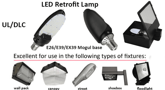 Philips LED Retrofit Lamp 180 Degree 75W 9750LM- E39 Base- DLC UL