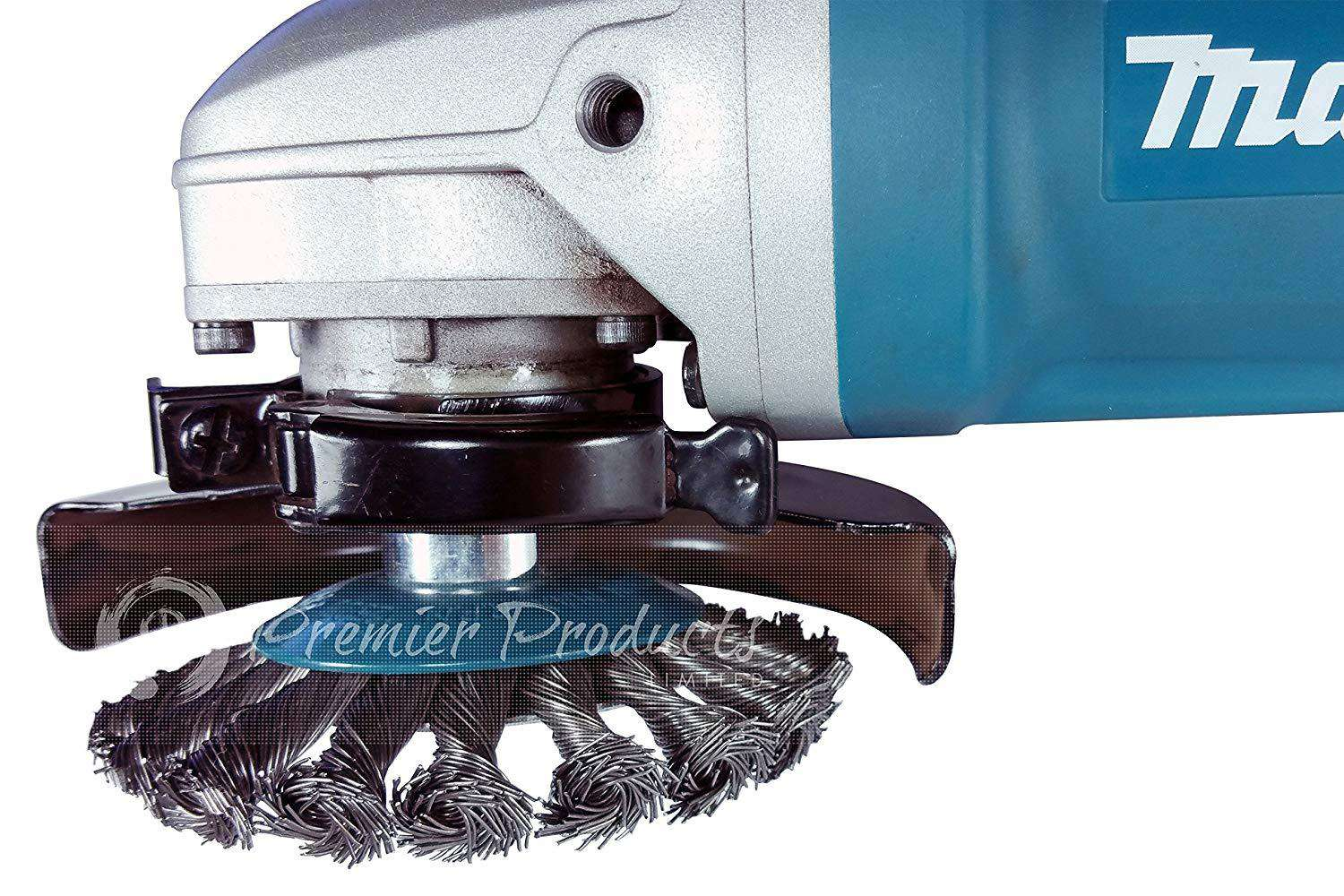 Makita 1 Piece - 4 Inch Knotted Twist Wire Wheel Brush For Grinders ...