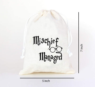 Mischief Managed Harry Potter Bachelorette Party Birthday Favor Bag Bachelorette party survival kit - set of 10 bags