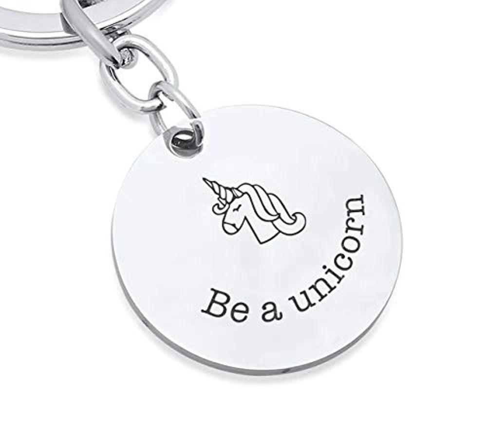 Unicorn Gifts for Teen Girls- Always be a Unicorn Engraved Keychain Gift Ideas For Christmas/ Birthday