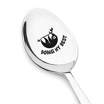 Doing My Best Sloth Spoon Funny Unique Gifts Unique Sloth Birthday Gift Ideas For Men or Women Sloth Lover Gifts For Him, Her Novelty Gifts For Office Coworker, Best Friend - 7Inch #SP3 - BOSTON CREATIVE COMPANY