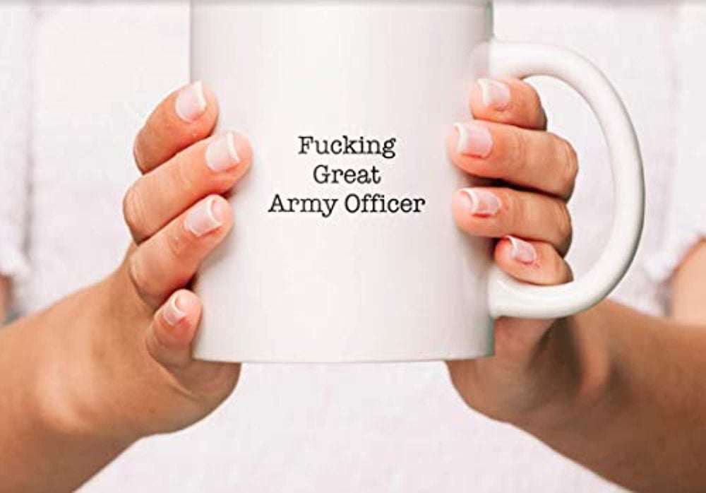 Funny Coffee Mugs For Army Officer - FUCKING GREAT ARMY OFFICER