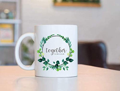 TOGETHER FOREVER  Coffee Mugs | Married coffee mug | Gift For friends  | Couple Mugs | Ceramic Coffee Mugs