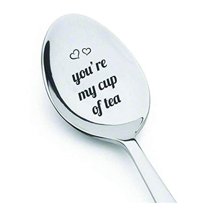 You're my Cup of Tea | Tea Lovers Gifts | Perfect Gifts for Lovers | Special Unique Gift | Stainless Steel Teaspoon