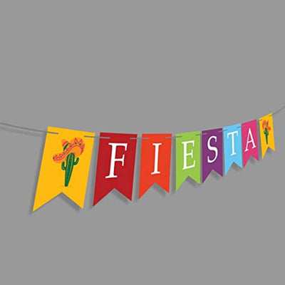 Final Fiesta Bachelorette Party Decorations- Cinco De Mayo Party Supplies-Fiesta Banner Cactus Pattern Garland Flag For Baby Shower Bridal Wedding Engagement Mexican Party Decoration Banner