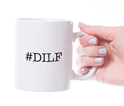 Ideas from Boston- #DILF Dad I'd Like to Fuck mug, Gift For Hot guys, Funny proposals, Mugs for friends, Ceramic coffee mugs, Father of child cup