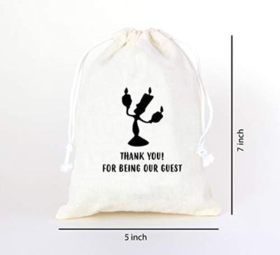 Thank You Tag Drawstring Bag Wedding Favors For Guests Favor Bags -Goodie Bags For kids birthday Bridesmaid Graduation Baby Shower -Hotel Bags For Wedding Guests-Spice Bags With Drawstring -Set Of 10