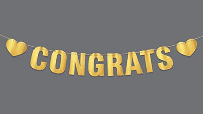 Congratulations Banner Graduation Party Supplies 2019 Congrats Banner Hanging Decoration For Bridal Shower Sign Baby Shower Engagement -Congratulation Farewell Party Supplies Graduate Decor