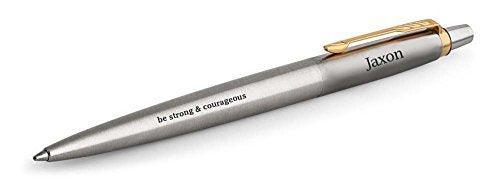 Fountain Pen - Be Strong And Courageous - Engraved Pen - BOSTON CREATIVE COMPANY