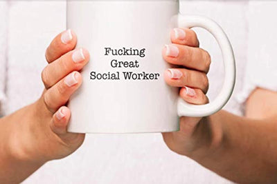 Ideas from Boston- FUCKING GREAT SOCIAL WORKER, Best Social Worker, Gift For Social Worker, Funny proposals, Mugs for SW, Ceramic coffee mugs, Social Worker cups