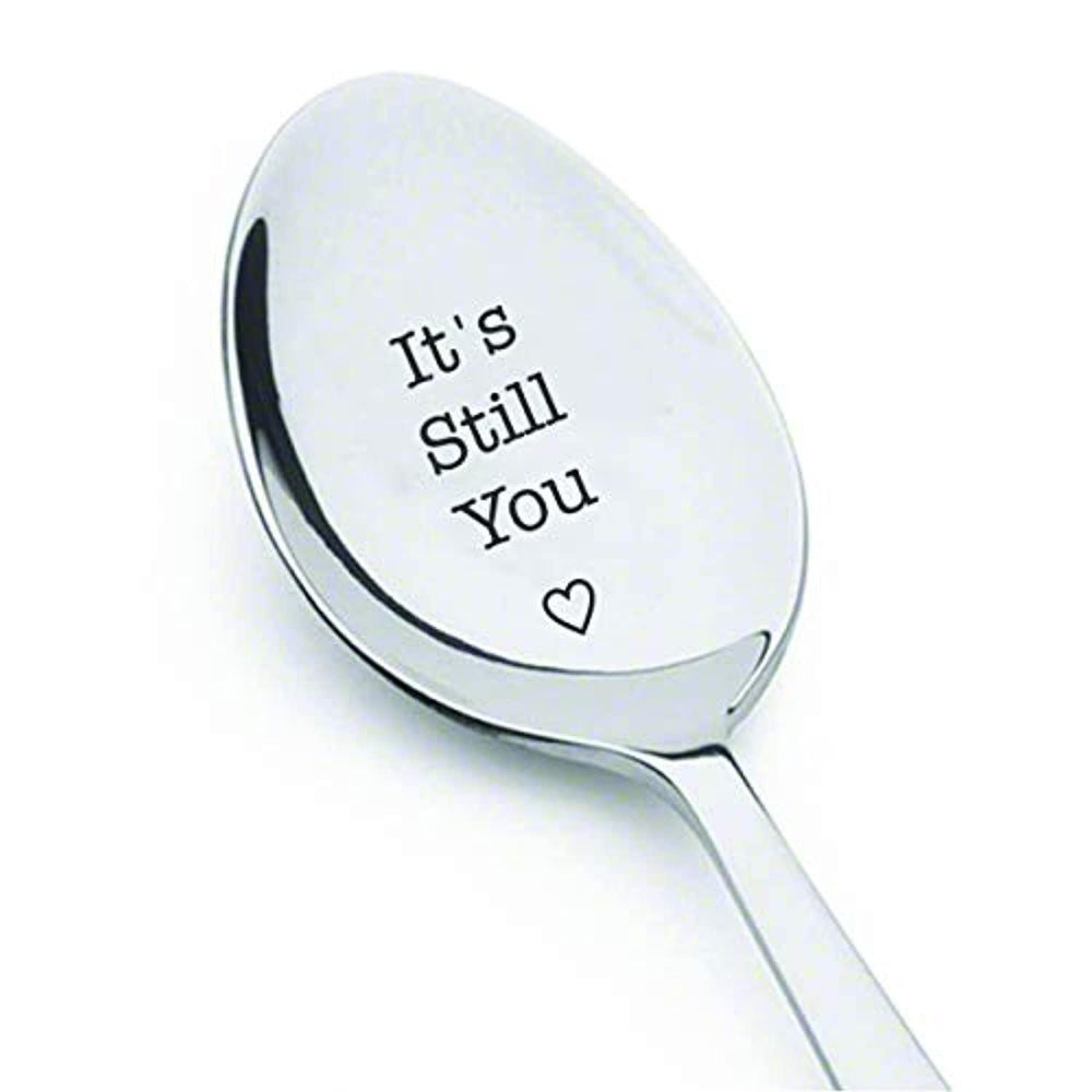 Engraved Spoon Gift for Friend Husband Fiance Wife And Wedding Anniversary
