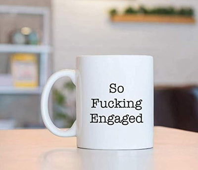 Ideas from Boston- SO FUCKING ENGAGED Mug, Happily engage, Gift For friends, Funny proposals, Mugs for couple, Ceramic coffee mugs, Fucking Engaged cup