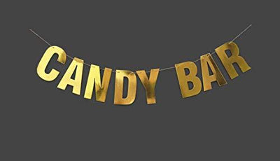 Candy Bar  Candy Buffet  Wedding Reception  Dessert Bar  Wedding Banner Gold banner