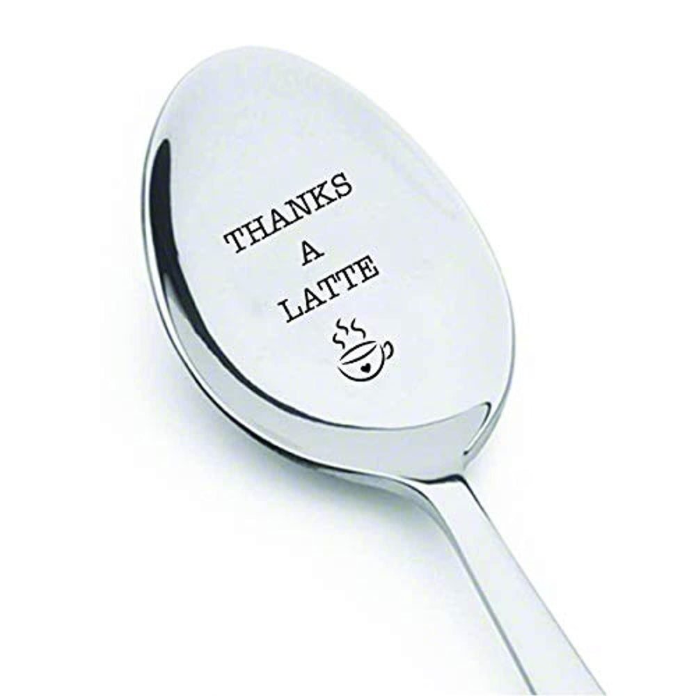 THANKS A LATTE Spoon-Perfect Gift for a Colleagues for Having Tea/Coffee