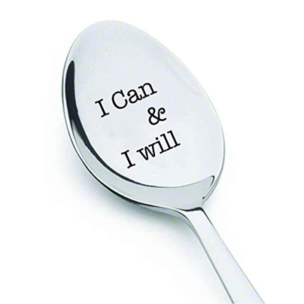 Inspirational Engraved Spoon For Men , Women